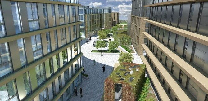 student accommodation landscaping