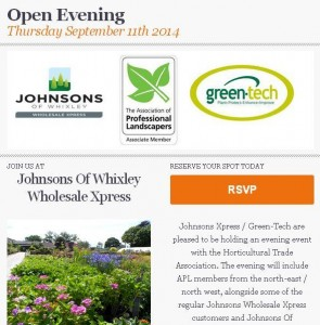uk landscaping event at Johnsons