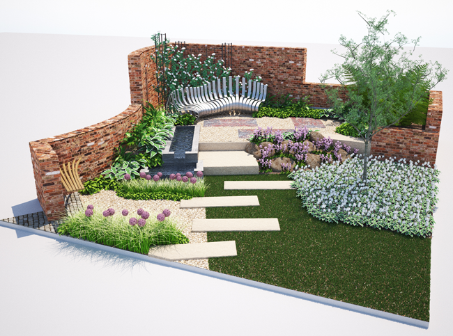 Yorkshire roof garden harrogate spring flower show 2015 paxman landscapes for Garden design yorkshire