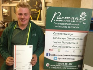 Well-earned success for James - horticulture apprentice