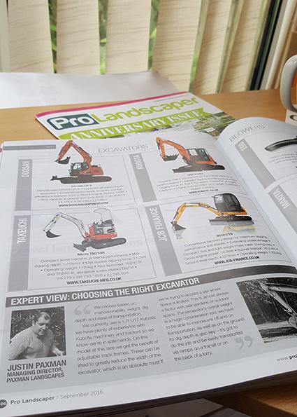 ProLandscaper Magazine Excavators
