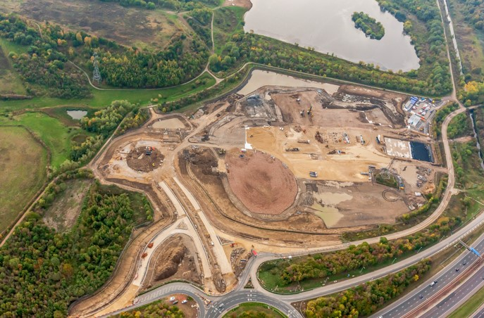 Aerial shot of Skelton Gate Development, Leeds